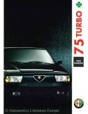 1991 ALFA ROMEO 75 TURBO QV LIMITED EDITION BROCHURE ITALIAN