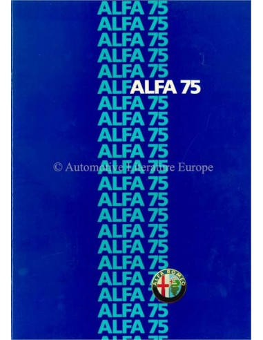 1985 ALFA ROMEO 75 BROCHURE NEDERLANDS