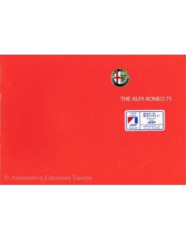 1988 ALFA ROMEO 75 BROCHURE ENGELS