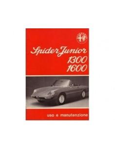 1976 ALFA ROMEO SPIDER 1300 / 1600 OWNERS MANUAL ITALIAN