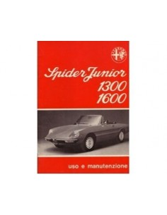 1976 ALFA ROMEO SPIDER OWNERS MANUAL HANDBOOK ITALIAN