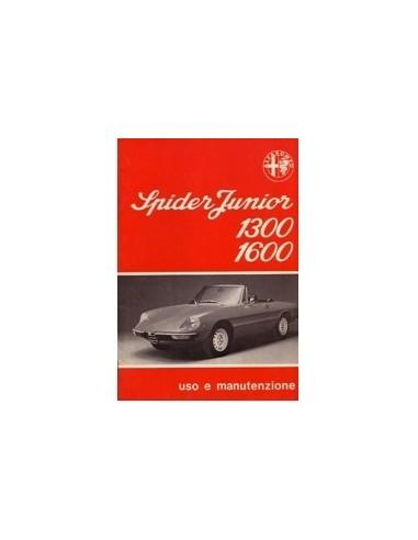 1976 ALFA ROMEO SPIDER INSTRUCTIEBOEKJE ITALIAANS