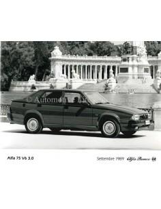 1989 ALFA ROMEO 75 V6 3.0 PRESSE BILD