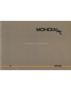 1989 FERRARI MONDIAL T PRESSEMAPPE DEUTSCH 545/89