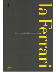 2000 FERRARI LA FERRARI PROSPEKT ITALIENISCH / ENGLISCH