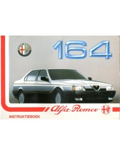 1990 ALFA ROMEO 164 OWNERS MANUAL HANDBOOK DUTCH