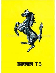 1980 FERRARI 312 / T5 BROCHURE ITALIAN