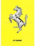 2000 FERRARI F1-2000 BROCHURE ITALIAN 1555/00