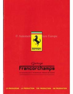 1983 FERRARI DE PRODUCTIE BROCHURE 268/83