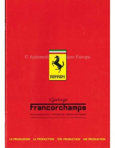 1983 FERRARI THE PRODUKTION BROCHURE 268/83