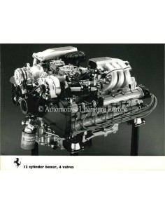 1983 FERRARI 12 CYLINDER BOXER 4 VALVES PRESS PHOTO