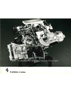 1982 FERRARI 8 CYLINDER 4 VALVES PRESS PHOTO