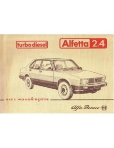 1983 ALFA ROMEO ALFETTA TURBO DIESEL OWNERS MANUAL ITALIAN