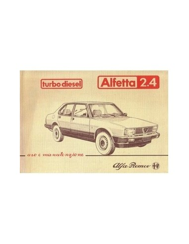 1983 ALFA ROMEO ALFETTA TURBO DIESEL INSTRUCTIEBOEKJE