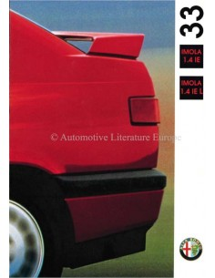 1992 ALFA ROMEO 33 IMOLA BROCHURE DUTCH
