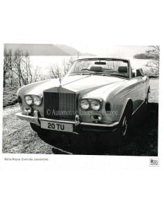 1976 ROLLS ROYCE CORNICHE CONVERTIBLE PRESSPHOTO