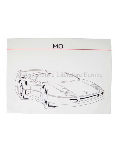 "1987 FERRARI F40 PRESSKIT ENGLISH ""LIMITED EDITION"""
