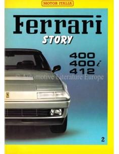 1985 FERRARI STORY 400/400i/412 MAGAZINE 2 ENGELS / ITALIAANS