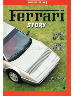1985 FERRARI STORY 328GTB/GTS MAGAZINE 4 ENGELS / ITALIAANS