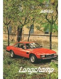 1980 DE TOMASO LONGCHAMP PROSPEKT