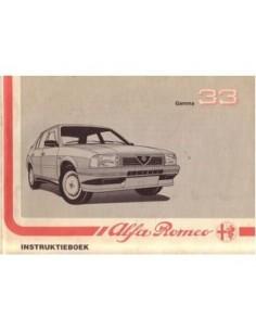 1988 ALFA ROMEO 33 OWNERS MANUAL HANDBOOK DUTCH