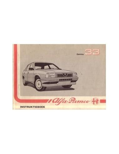 1988 ALFA ROMEO 33 INSTRUCTIEBOEKJE NEDERLANDS