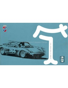 1965 DE TOMASO VALLELUNGA BROCHURE ITALIAANS