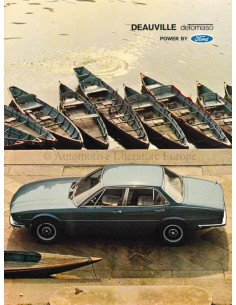 1971 DE TOMASO DEAUVILLE BROCHURE ITALIAANS