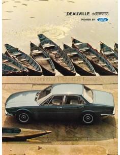 1971 DE TOMASO DEAUVILLE BROCHURE ITALIAN