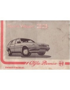 1988 ALFA ROMEO 33 SPORT WAGON INSTRUCTIEBOEK ENGELS
