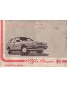 1988 ALFA ROMEO 33 SPORT WAGON OWNERS MANUAL HANDBOOK ENGLISH
