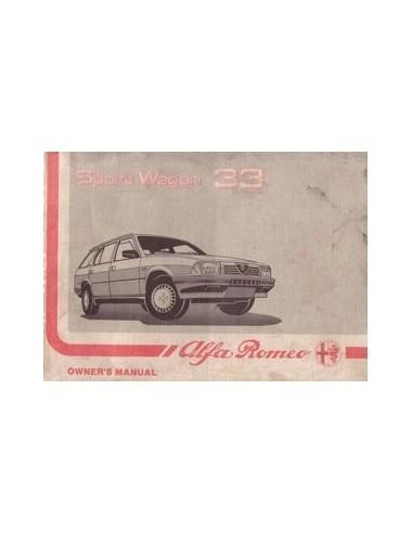 1988 ALFA ROMEO 33 SPORT WAGON INSTRUCTIEBOEK ENGELS