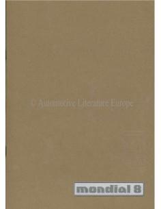 1980 FERRARI MONDIAL 8 PRESSEMAPPE ENGLISCH