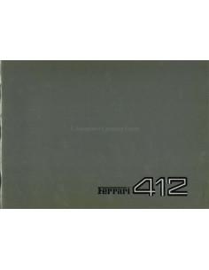 1985 FERRARI 412 PERSMAP ITALIAANS 353/85