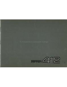 1985 FERRARI 412 PRESSEMAPPE ENLISCH 353/85