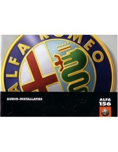 2003 ALFA ROMEO 156 AUDIO BETRIEBSANLEITUNG ENGLISCH