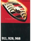 1995 PORSCHE PROGRAMMA BROCHURE DUITS