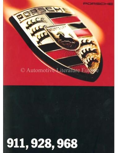 1995 PORSCHE RANGE BROCHURE GERMAN