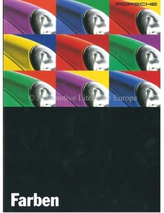 1995 PORSCHE 911 / 928 / 968 COLOURS & INTERIOR BROCHURE GERMAN