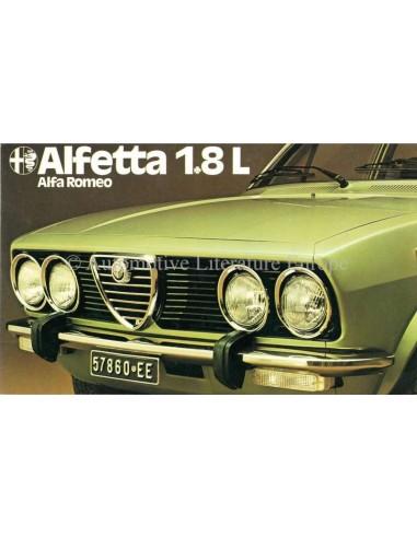 1975 ALFA ROMEO ALFETTA 1.8 L BROCHURE DUTCH