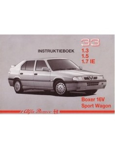 1991 ALFA ROMEO 33 + SPORTWAGON OWNERS MANUAL HANDBOOK DUTCH
