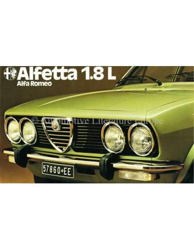 1976 ALFA ROMEO ALFETTA 1.8 L PROSPEKT NIEDERLÄNDISCH