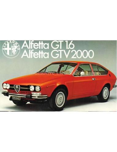 1978 ALFA ROMEO ALFETTA GT 1.6 / GTV 2000 BROCHURE NEDERLANDS
