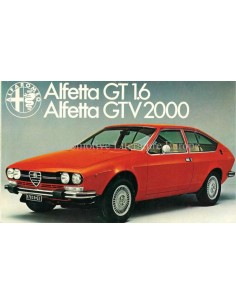 1976 ALFA ROMEO ALFETTA GT 1.6 / GTV 2000 BROCHURE DUTCH