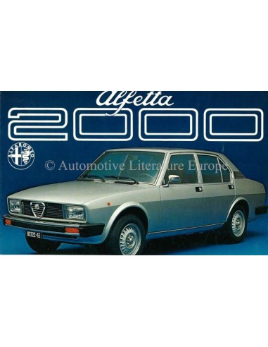 1977 ALFA ROMEO ALFETTA 2000 BROCHURE NEDERLANDS