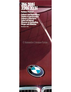 1983 BMW 3 SERIES COLOUR AND UPHOLSTERY BROCHURE