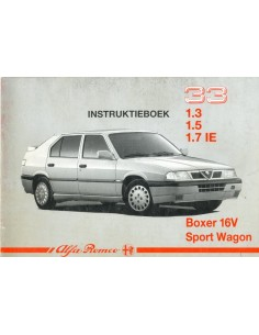 1990 ALFA ROMEO 33 + SPORTWAGON OWNER'S MANUAL DUTCH