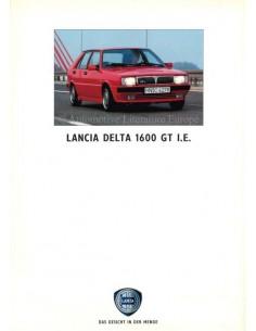 1991 LANCIA DELTA 1600 GT I.E. BROCHURE GERMAN