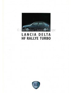 1989 LANCIA DELTA HF TURBO BROCHURE GERMAN