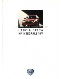 1992 LANCIA DELTA HF INTEGRALE 16V BROCHURE GERMAN